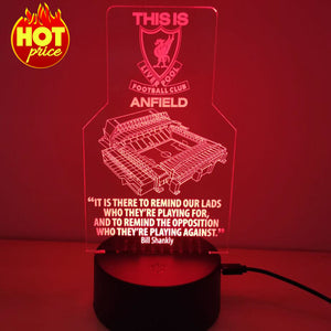 """This Is Anfield"" - 3D Night Lamp"