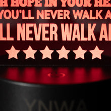 "Load image into Gallery viewer, ""YNWA""  Lyrics - 3D Night Lamp"