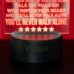 """YNWA""  Lyrics - 3D Night Lamp"
