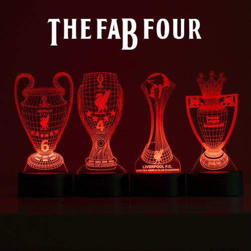 LFC'S Fab Four! - 3D Night Lamps Bundle (all with remote)