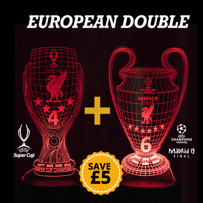 European Double 3D Night Lamps Bundle  (both with remote)
