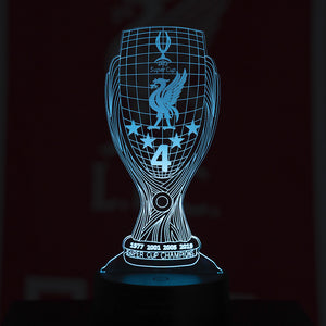 Super Cup 3D illusion Night Lamp with Remote