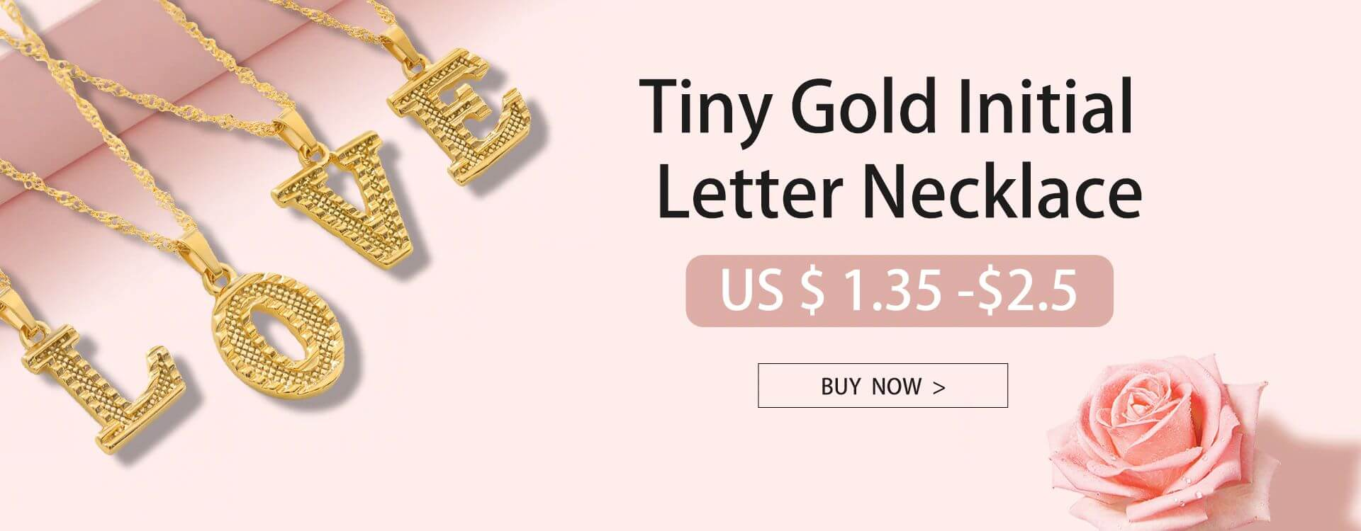 Gold A-Z Alphabet Necklace | Ship from USA