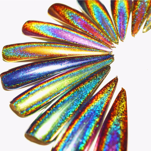 Peacock Holographic Chameleon Nail Sequins Glitters - JJslove.com