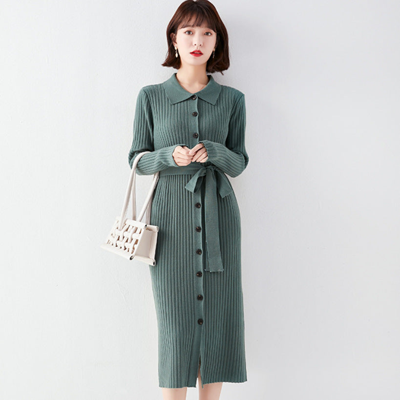 $29.99 Vintage Midi Sweater Dress Dresses for Women Free Shipping Worldwide