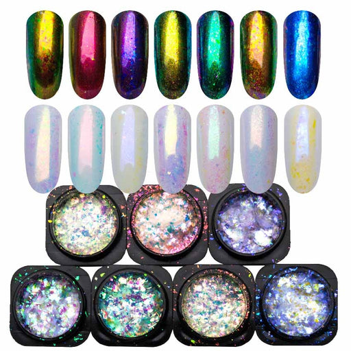 1 Box Yucca Flakes for Nail Design Manicure Spangles Sequins Nails Glitter - JJslove.com