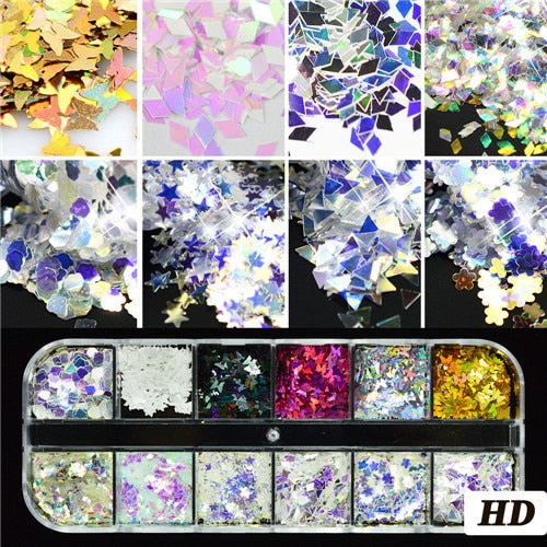 JJ'slove Ultrathin Sequins Mini Paillette Colorful Nail Art Glitter - JJslove.com