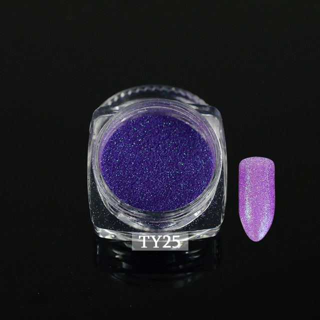 1pcs Colorful Nail Glitter Sugar Powder Manicure Pigment Fine Nail Powder - JJslove.com