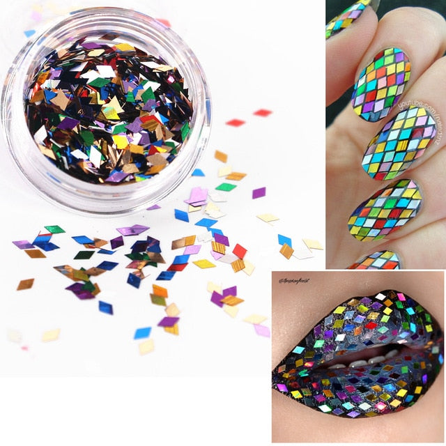 23 Color Shiny Round Ultrathin Sequins Colorful Nail Art Glitter Tips UV Gel 3D Nail Decoration Manicure DIY Accessories 2017 - JJslove.com