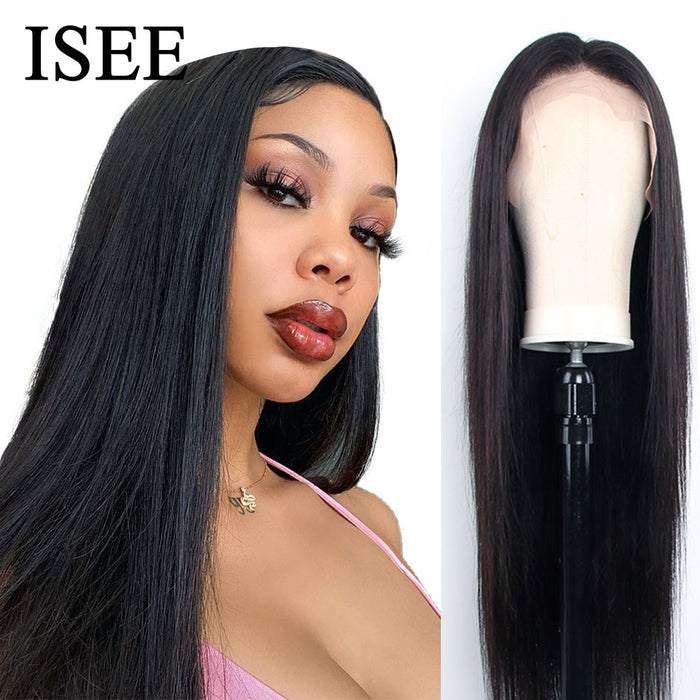 Brazilian Straight Lace Front Wigs Natural Hairline Full End Human Hair Wigs - JJslove.com