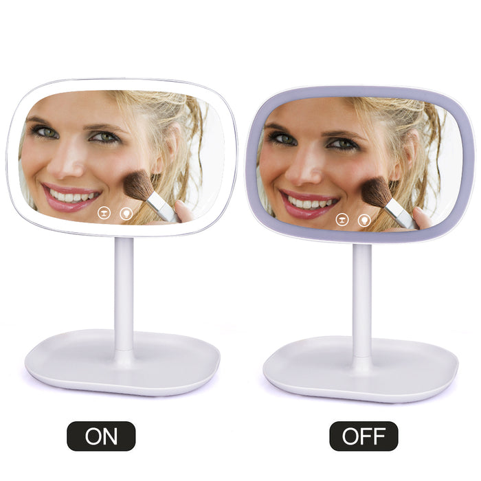 Touch Screen 47 LED Lights 360 Rotating Desktop Mirror - JJslove.com