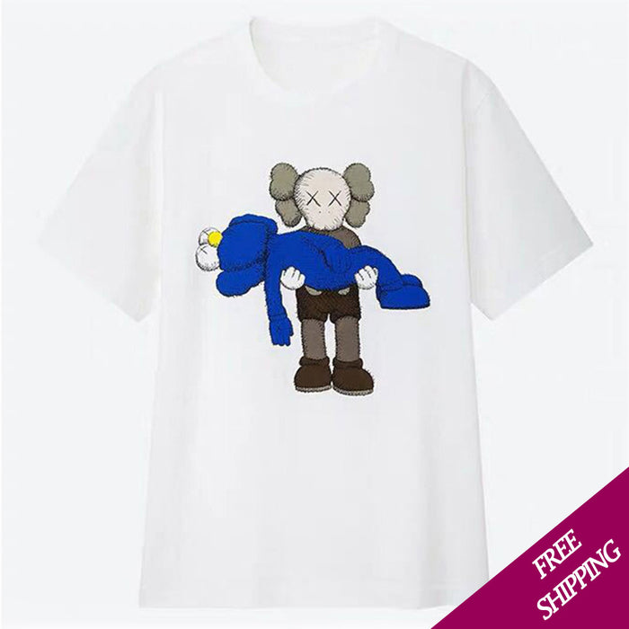 Kaws Summer Casual 2019 Collaboration Companion Men T-Shirt Tops - JJslove.com