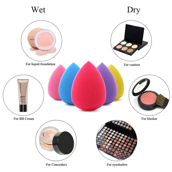 JJ'slove 5Pcs Pro Makeup Blender Foundation Puff Sponge - JJslove.com