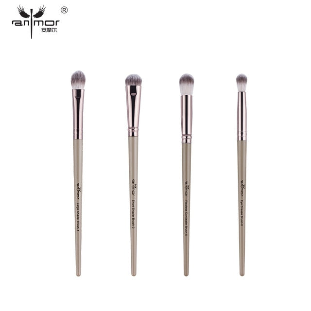 Professional Eyeshadow Blending Eyeliner Eyelash Eyebrow Makeup Brushes - JJslove.com