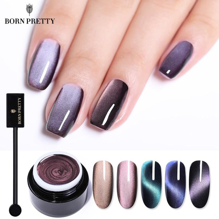 PRETTY 5D Cat Eye Nail Gel 5ml Magnetic Soak Off UV Gel - JJslove.com