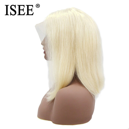 Blonde Lace Front Wig Short Lace Front Human Hair Wigs 613 Straight Bob Wigs - JJslove.com