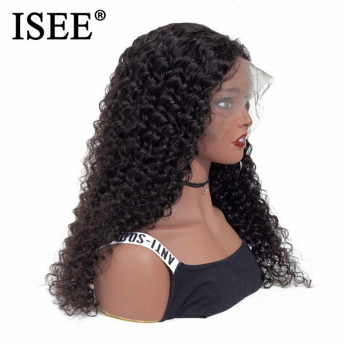 Deep Wave Human Hair Wigs For Women Lace Front Human Hair Wigs - JJslove.com