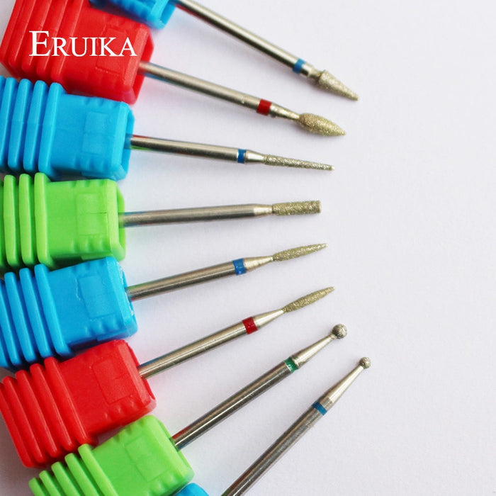 ERUIKA 8 Type Diamond Nail Drill Bit Pedicure Tools  Nail Mills - JJslove.com