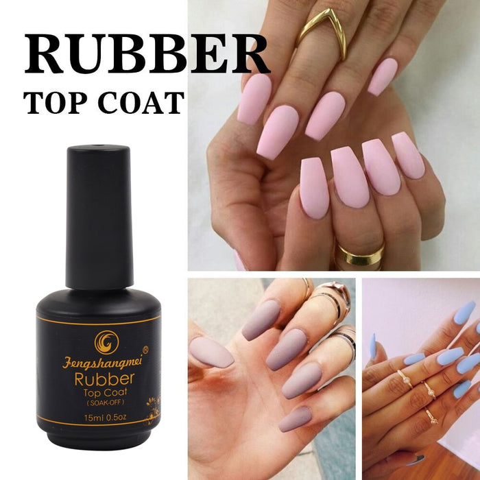 Popular 15ml Matte Rubber Top Coat - JJslove.com