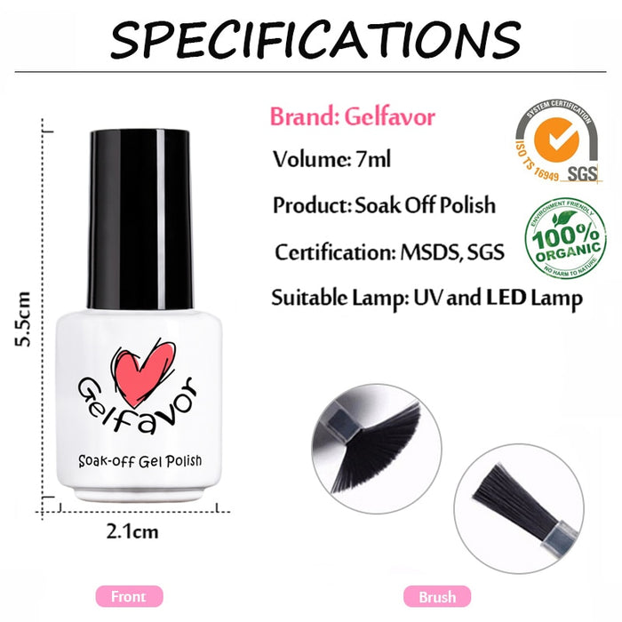Gelfavor Top Base Coat Primer 2PCS Nail Art - JJslove.com