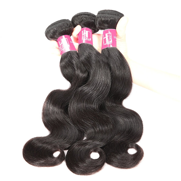 Brazilian Body Wave Wigs Weave Bundles Natural Color 6A Remy Hair - JJslove.com