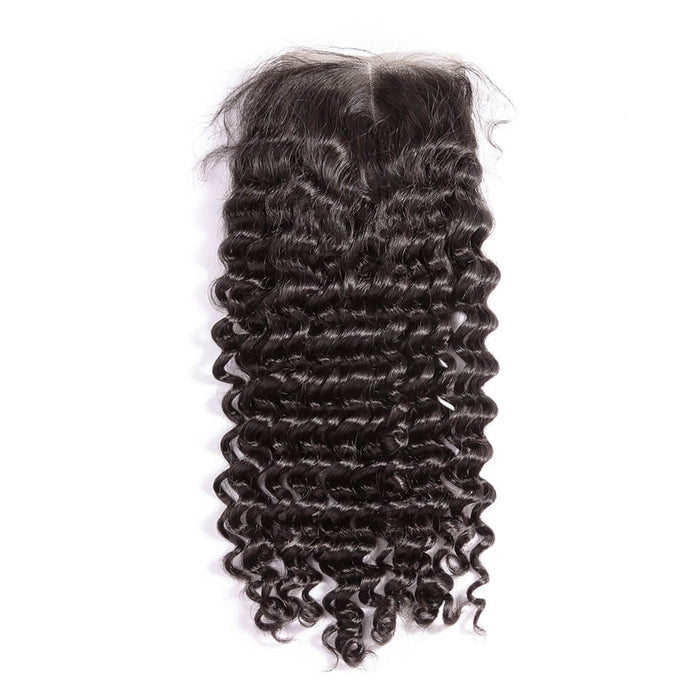 Weave Bundles 13''*4 ''Lace Frontal Virgin Hair 7A Deep Wave Hair Wigs - JJslove.com