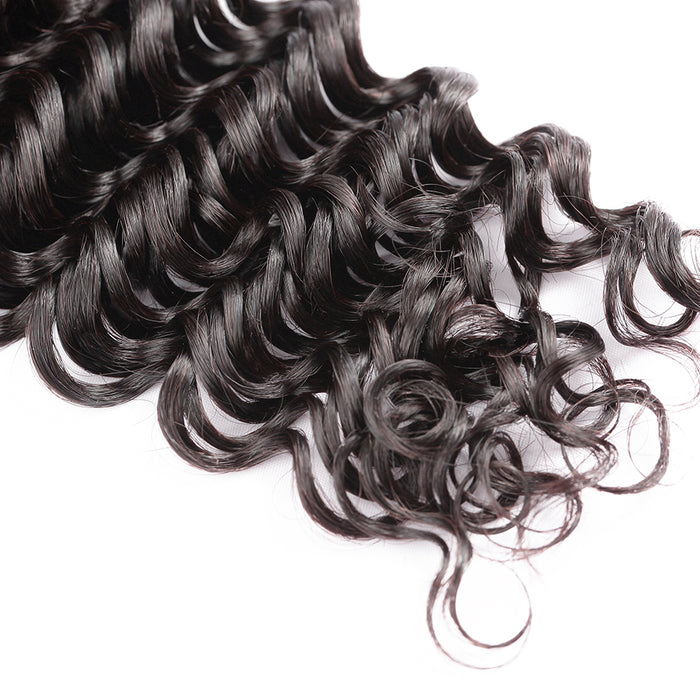 7A Hair Natural Color Virgin Hair Weave Bundles Deep Wave Hair Wigs - JJslove.com