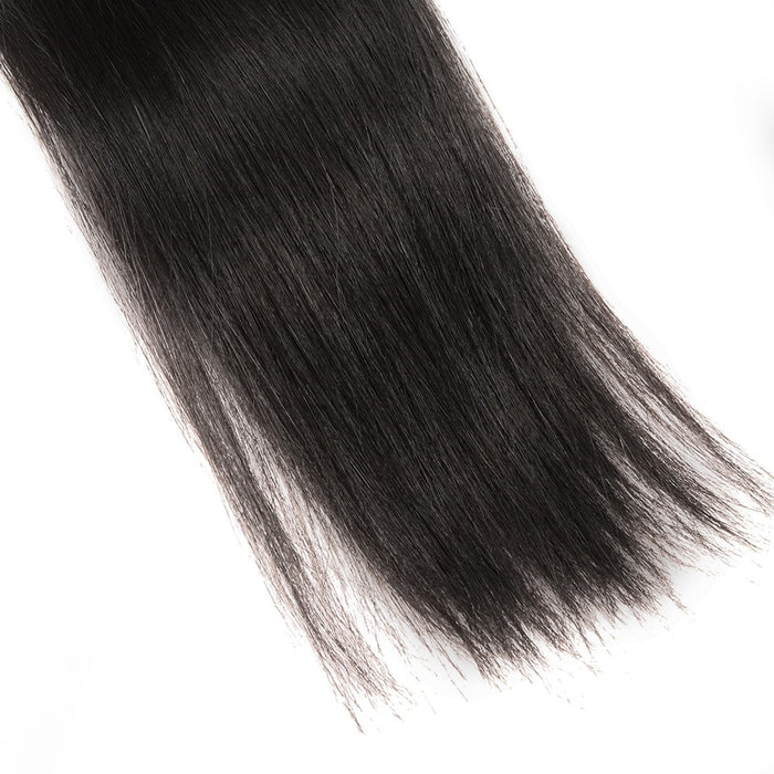 HJ WEAVE BEAUTY Indian Virgin Hair Natural Color 3Pcs Straight Hair Wigs - JJslove.com