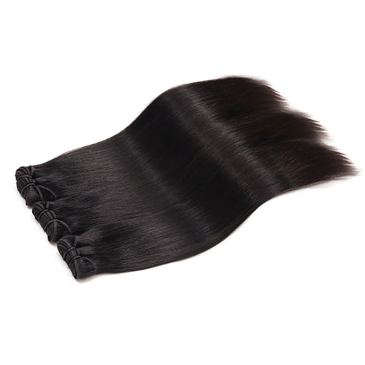 Middle Part Closure Virgin Hair Bundles With Closure Straight Hair Wigs - JJslove.com