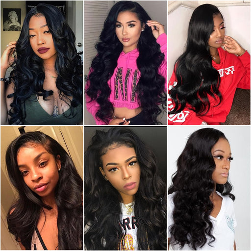 Beauty Brazilian Human Hair Bundles With Closure Body Wave Wigs - JJslove.com