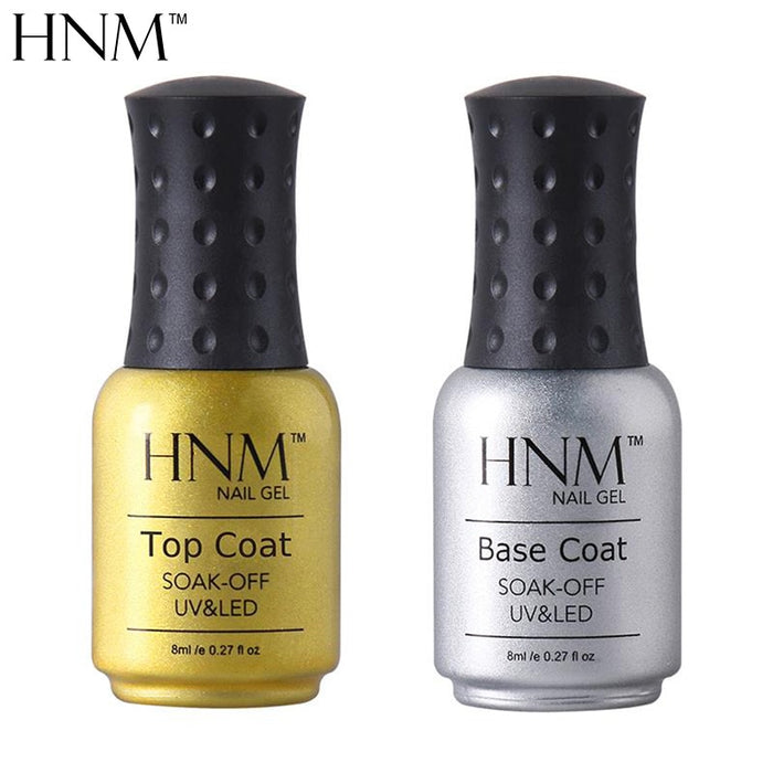 HNM 8ML Base And Top Coat For UV Gel - JJslove.com