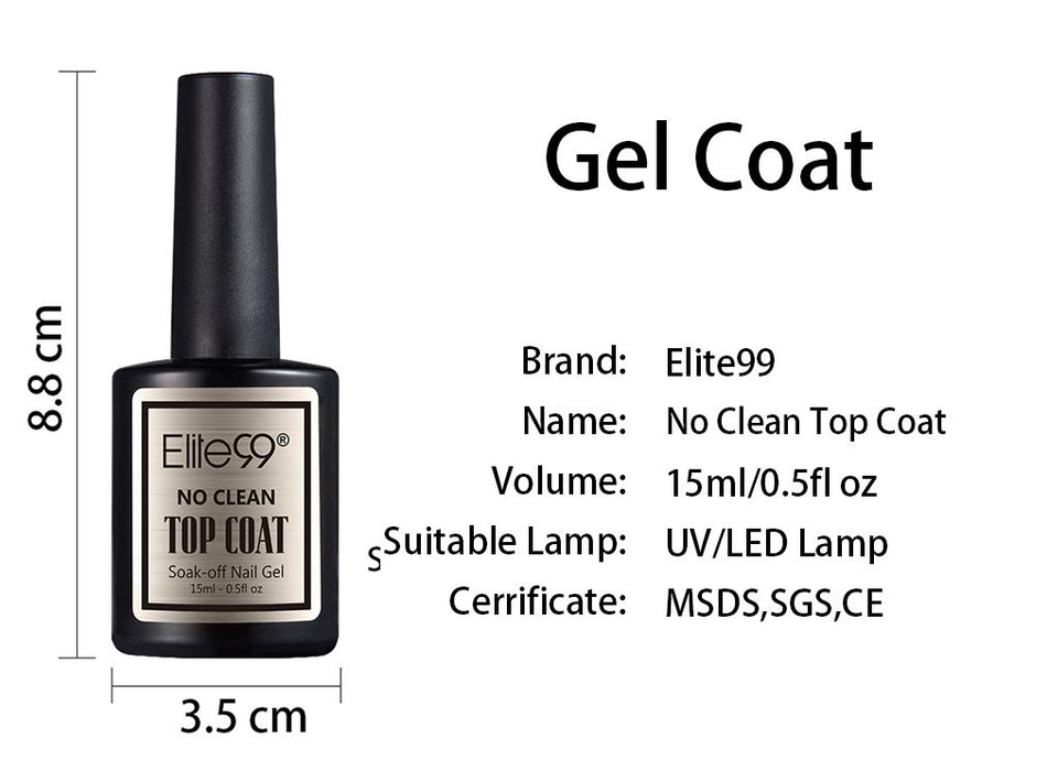Elite99 15ml Long Lasting Shinning Top Coat - JJslove.com