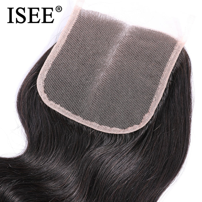 Brazilian Body Wave Closure Middle Part Hand Tied 100% Remy Human Hair - JJslove.com