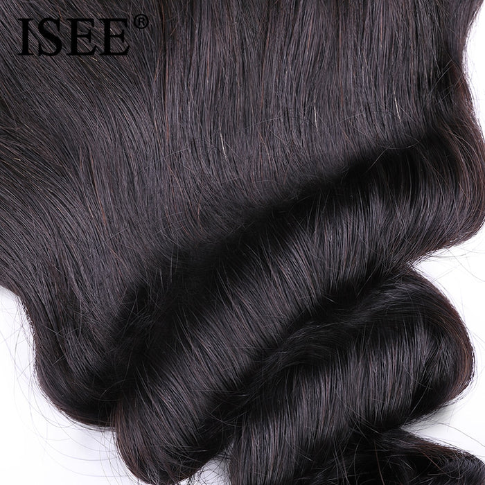 Brazilian Loose Wave Closure 13*4 Lace Frontal Closure - JJslove.com