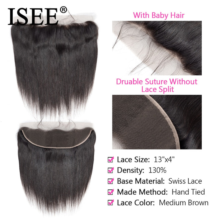 Human Hair Bundles With Frontal 13*4 Pre Plucked Lace Frontal - JJslove.com