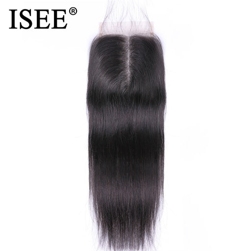 Malaysian Straight Hair Closure Middle Part Lace Straight Closure - JJslove.com