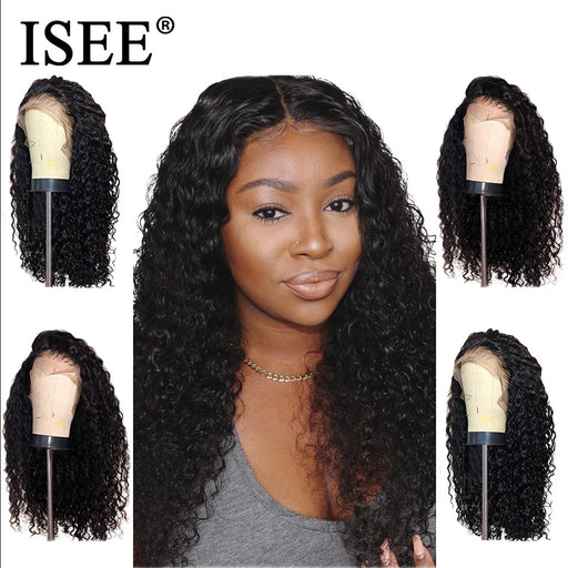 Mongolian Kinky Curly 150% Density Lace Front Human Hair Wigs - JJslove.com