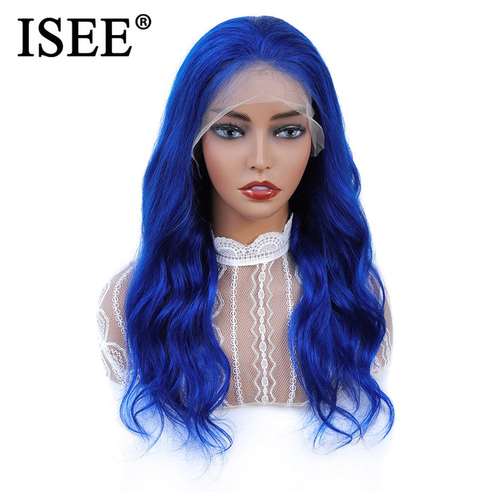 Peruvian Pink Wig With Baby Hair 150% Density 613 Blonde Body Wave Lace Front Wig - JJslove.com