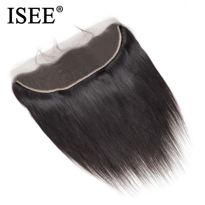 Peruvian Straight Frontal Lace Closure 13*4 Ear to Ear Straight Closure - JJslove.com