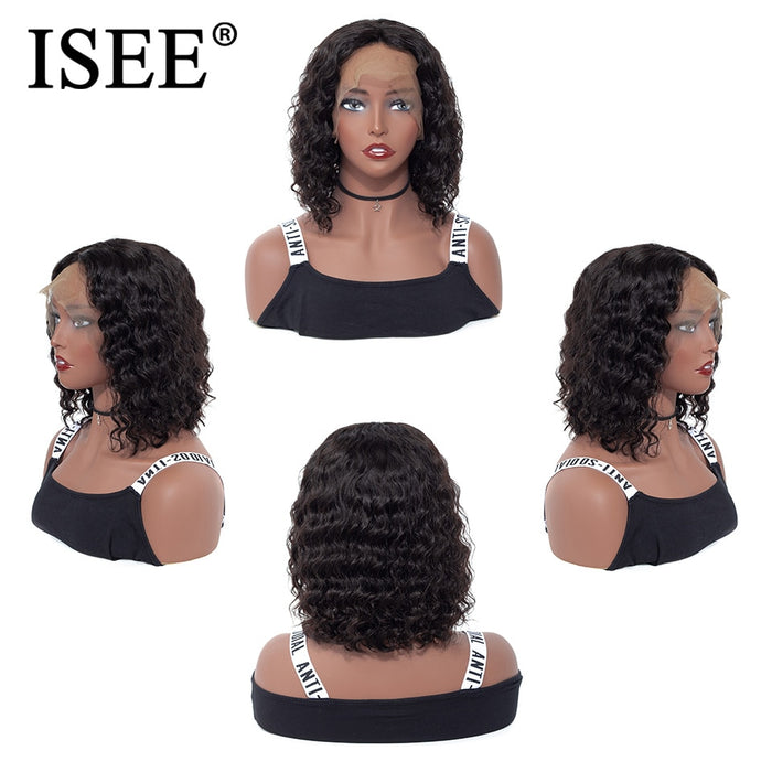 Short Bob Wigs Pre Plucked With Baby Hair Lace Front Human Hair Wigs - JJslove.com