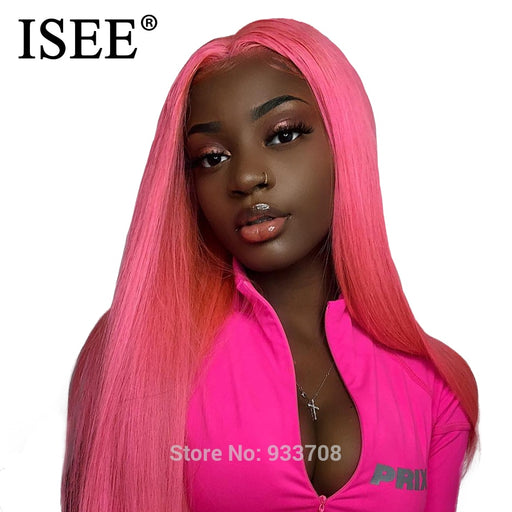 Straight Lace Front Wig With Baby Hair Blue/613 Blonde Lace Front Human Hair Wigs - JJslove.com