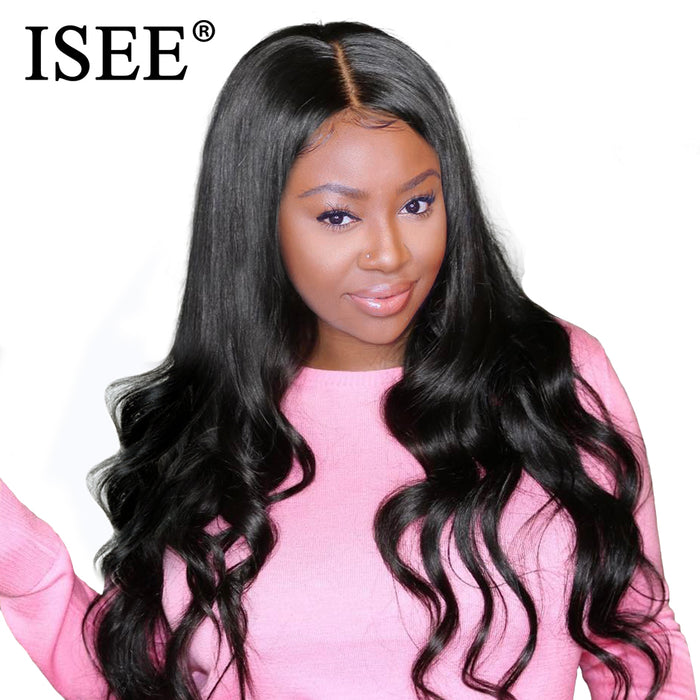 ISEE HAIR Wigs Lace Front Human Hair Wigs Brazilian Body Wave Lace Front Wigs - JJslove.com