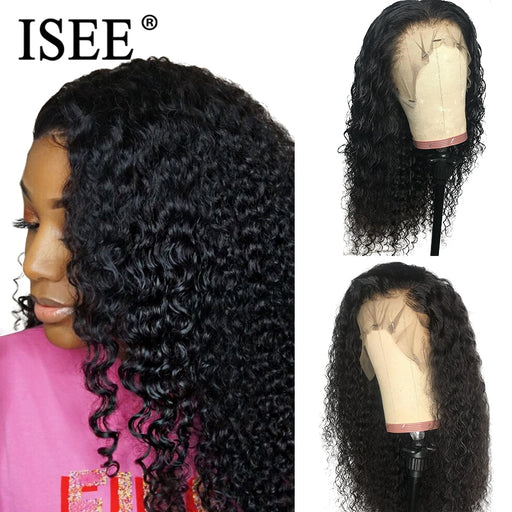 Pre Plucked Kinky Curly Full Lace Wigs For Black Women - JJslove.com