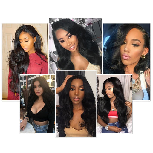 Lace Front Wigs Indian Body Wave Pre-plucked With Baby Human Hair Wigs - JJslove.com
