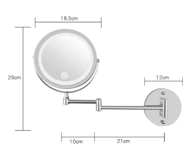 Led Makeup Mirror Touch Bright Adjustable Mirrors - JJslove.com
