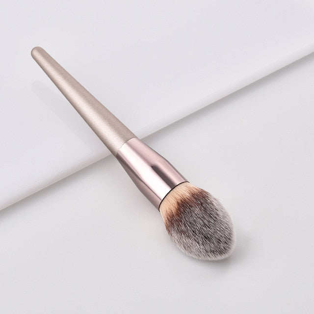 Champagne Makeup Brushes Set For Foundation Powder Blush Eyeshadow Concealer - JJslove.com