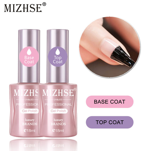 MIZHSE 18ML 2pcs/Lot Base Top Coat - JJslove.com
