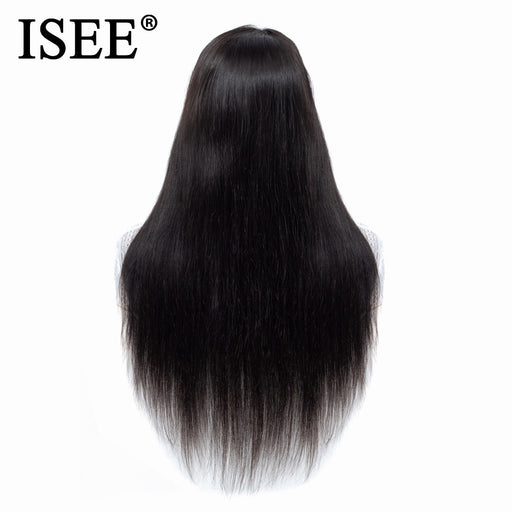 Malaysian Straight Lace Front Human Hair Wigs With Pre Plucked Hairline - JJslove.com