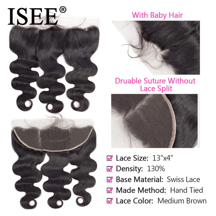 Malaysian body Wave Bundles With Frontal Remy Human Hair Bundles With Frontal - JJslove.com