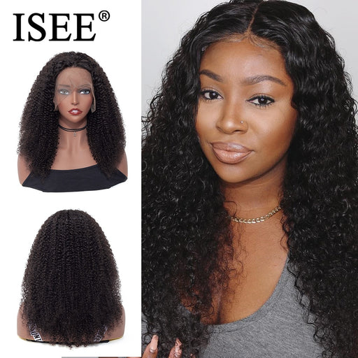 Peruvian Kinky Curly Wig Pre Plucked 150% Density Human Hair Wigs - JJslove.com